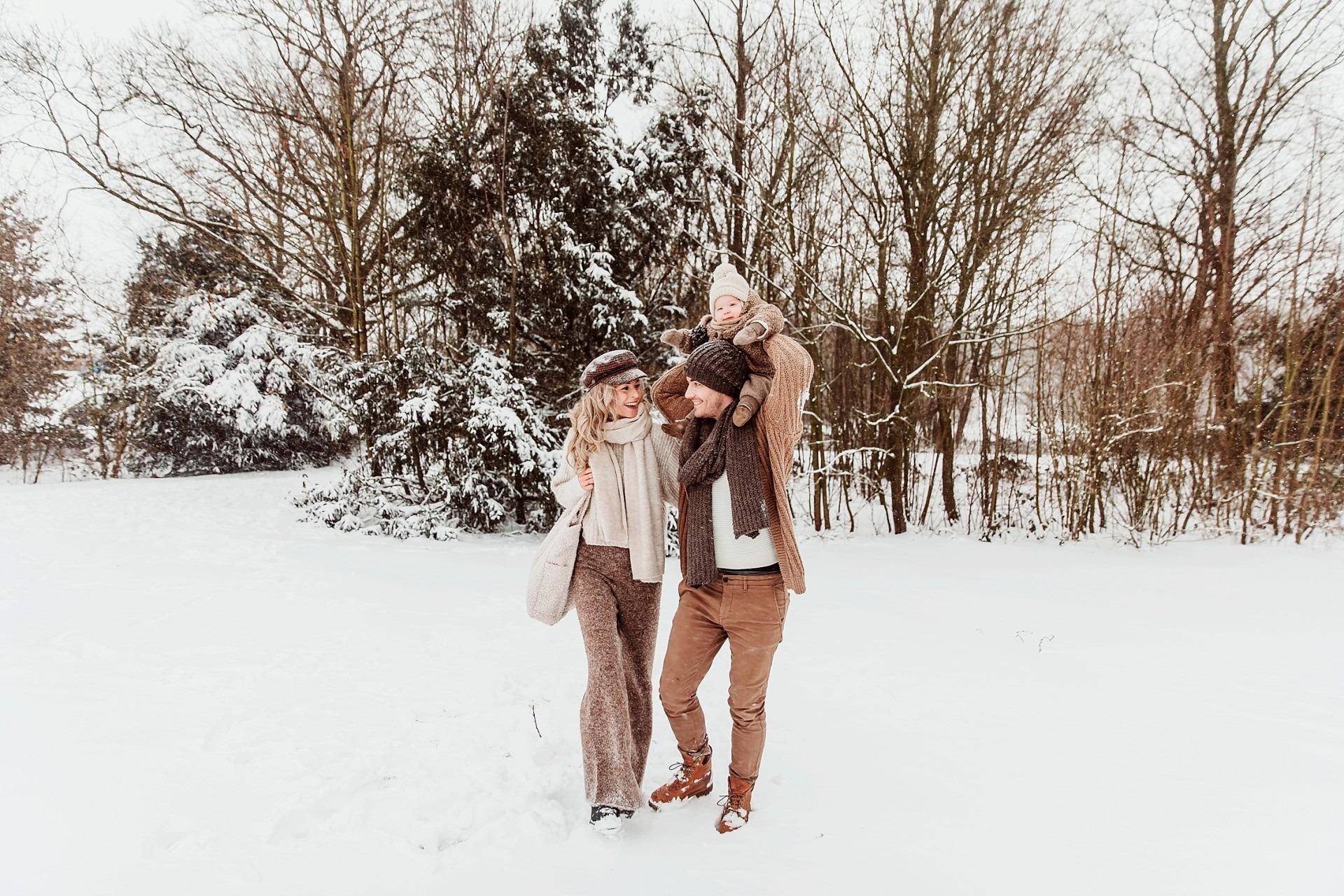 Fotoshoot in de sneeuw, Wijchen
