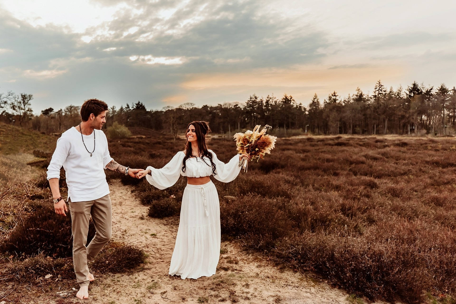 Loveshoot Nijmegen, Boho wedding, Elainefotografie
