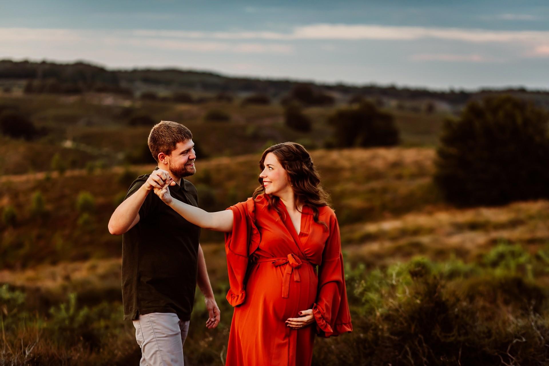 Zwangerschapsfotografie Posbank Rheden, Elainefotografie